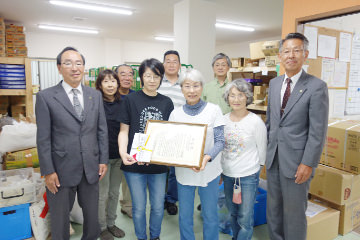 井植文化賞の記念撮影